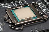 Central processor unit on motherboard  — Foto de Stock
