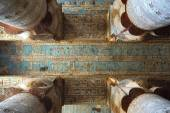 Interior of ancient egypt temple in Dendera — Stock Photo