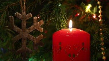Jul ljus dekoration — Stockvideo