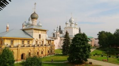 Kremlin in ancient town Rostov the Great — Stock Video