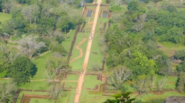 Sigiriya garden in Sri Lanka — Stock Video