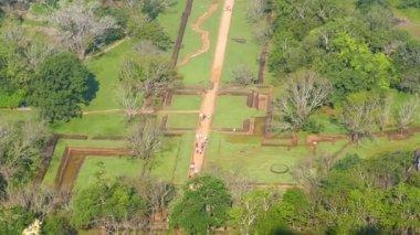 Sigiriya garden in Sri Lanka — Stockvideo