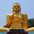 Buddha on Dambula golden temple in Sri lanka — Stock Photo #73049439