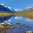 Mountain landscape with lake in Altay — Stock Photo #77318710