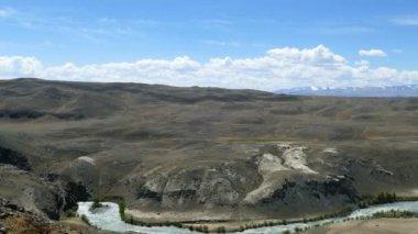 Altay CHUYA River Valley manzara — Stok video