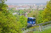 Schlossbergbahn - funicular railway in Freiburg im Breisgau — Stock Photo