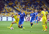 UEFA EURO 2016 Qualifying game Ukraine vs Slovakia — Stock Photo