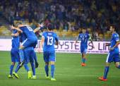 EURO 2016 Qualifying game Ukraine vs Slovakia — Stock Photo