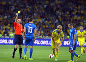 UEFA EURO 2016 Qualifying game Ukraine vs Slovakia — Foto Stock