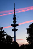 Hamburg Television tower after sunset, Germany — Zdjęcie stockowe