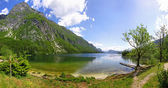 Panoramic view of Lake Bohinj, Slovenia — Stock Photo
