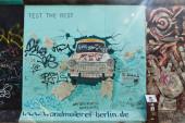 East Side Gallery in Berlin, Germany — Foto de Stock