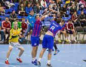 Handbal spel Motor vs Aalborg — Stockfoto