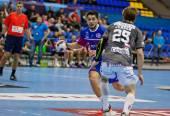 Handball game Motor vs Aalborg — Stock Photo