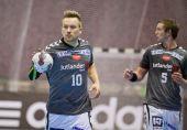 Handball game Motor vs Aalborg — Foto Stock