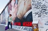 East Side Gallery in Berlin, Germany — Стоковое фото