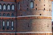 Details of Holsten Gate in Lubeck old town, Germany — Stock Photo
