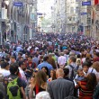 People walking on Istiklal Street in Istanbul — Stock Photo #58911025