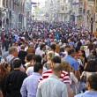 People walking on Istiklal Street in Istanbul — Stock Photo #58911035