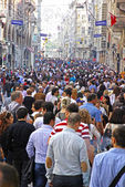 People walking on Istiklal Street in Istanbul — Stock Photo