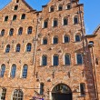 Facade of old buildings in Lubeck, Germany — Stock Photo #60289753