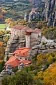 Roussanou Monastery and Meteora Rocks in Greece — Стоковое фото