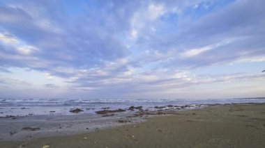 Lady's mile beach in Limassol, Cyprus — Stock Video