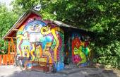 Christiania - self-proclaimed autonomous neighbourhood in Copenh — Stock Photo