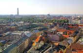 Aerial view of Malmo city, Sweden — Stock Photo