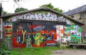 Christiania - self-proclaimed autonomous neighbourhood in Copenh — Stock Photo