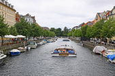 Touristic boat in Copenhagen, Denmark — Stock Photo