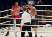 Boxing fight Oleksandr Usyk vs Danie Venter — Stock Photo