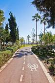 Cycle lanes at the Molos park in Limassol, Cyprus — Stock Photo