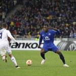 Football game FC Dynamo Kyiv vs FC Everton — Stock Photo #71043473