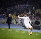 Football game FC Dynamo Kyiv vs FC Everton — Stock Photo