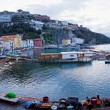 Panoramic view of small harbour in Sorrento, Italy — Stock Photo #71411665