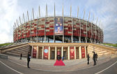 Exterior view of Warsaw National Stadium — Stock Photo