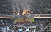 Tribunes of NSK Olimpiyskyi stadium in Kyiv during UEFA Europa L — Stock Photo