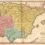 Detaillierte Karte der Iberischen Halbinsel zur Zeit der Roman E — Stockfoto #81097332