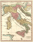 Ancient map of Italy at the time of the Roman Empire — Stock Photo