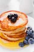 Panquecas com blueberry — Foto Stock