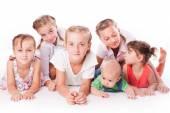 Kids on white — Stock Photo