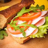 Wholegrain sandwich — Stock Photo