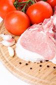 Raw pork loin — Stock Photo