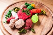 Crochet vegetables — Stock Photo