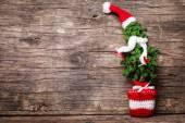Crochet Christmas tree — Stock Photo