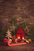 Christmas Ljusstake — 图库照片