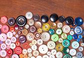 Färgglada knappar — Stockfoto
