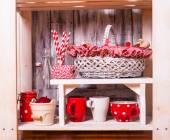 Shelves in the rack — 图库照片