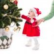 Santa baby girl — Stock Photo #58807133